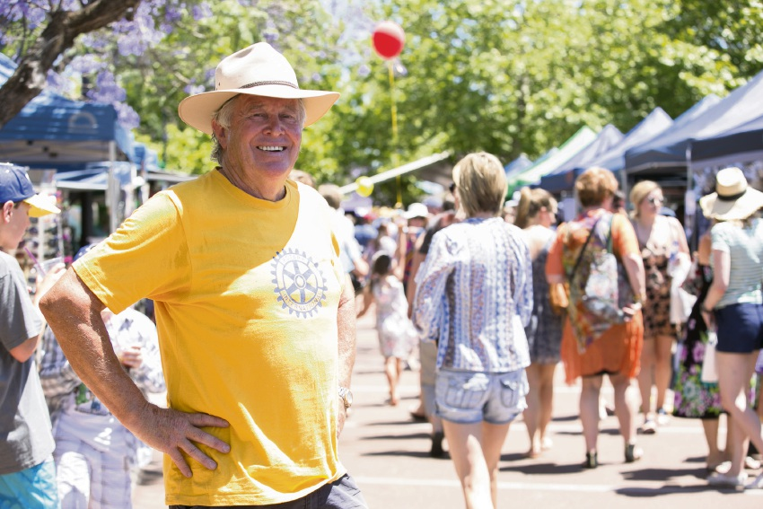 Rotary Jacaranda Festival project co-ordinator Kenn Williams at the event in 2016.