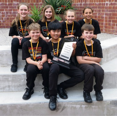Frederick Irwin Anglican School's Opti-Minds Team won a national award.