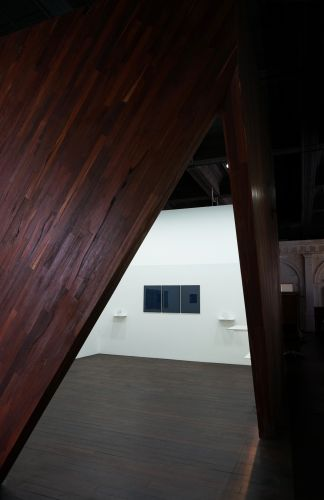 A view of Tom Blake's downstream dreams exhibition. Picture: Jess Boyce