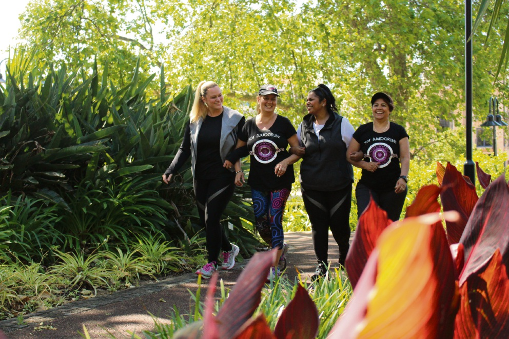 Candice Lorrae, Carol Michie, Kristel Kickett, Jenni Curtis will launch The Merindas Inspire on Saturday. Picture: Curtis Taylor