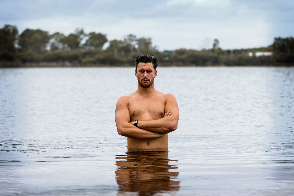 Myaree swimmer Peter Klauz. Picture: Will Russell d476428