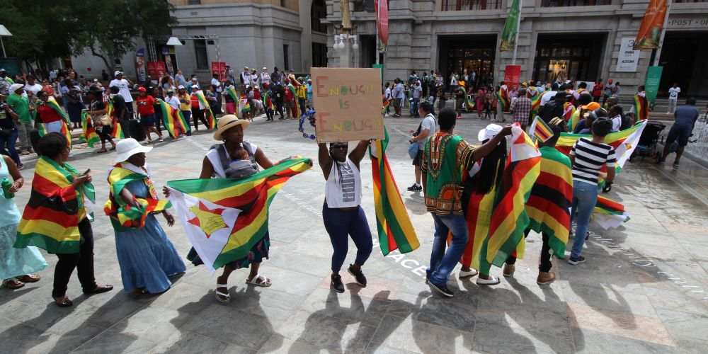 Zimbabweans in Forrest Place, Perth. Pictures: Jarvis Eyes