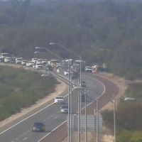 UPDATE: Kwinana Freeway northbound both lanes reopened following Baldivis truck rollover