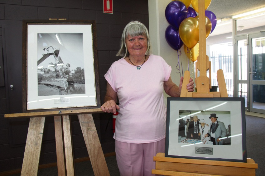 Sonja Lloyd with her award winning photo and another that was highly commended.