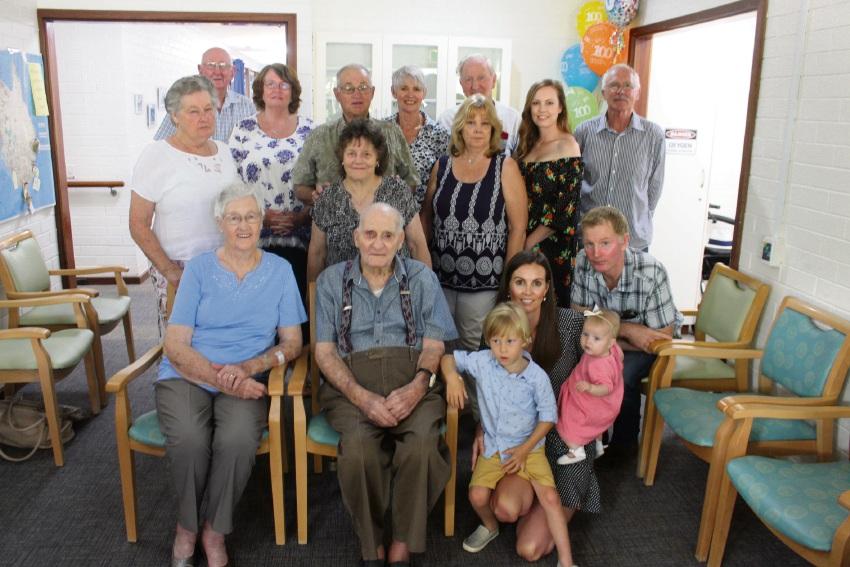 James Coyle celebrates his 100th birthday.