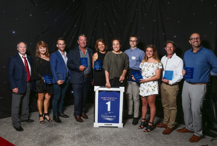 Winning smiles: City of Mandurah Sports Awards winners.