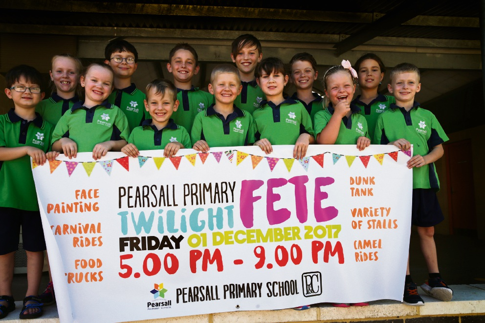 Pearsall Primary students. Picture: Martin Kennealey d476051