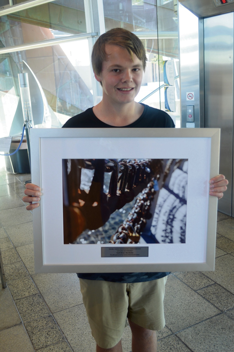Max Bensley with his winning entry.
