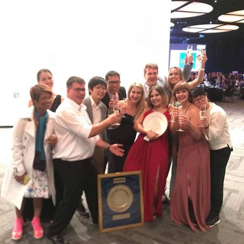 The Redmanna Waterfront Restaurant team celebrating their Gold Plate Award win.