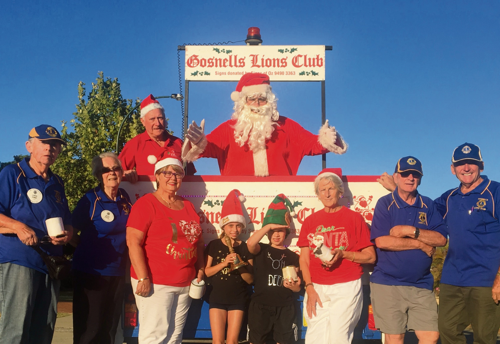 The Gosnells Lions Club are gearing up for their upcoming Christmas float.
