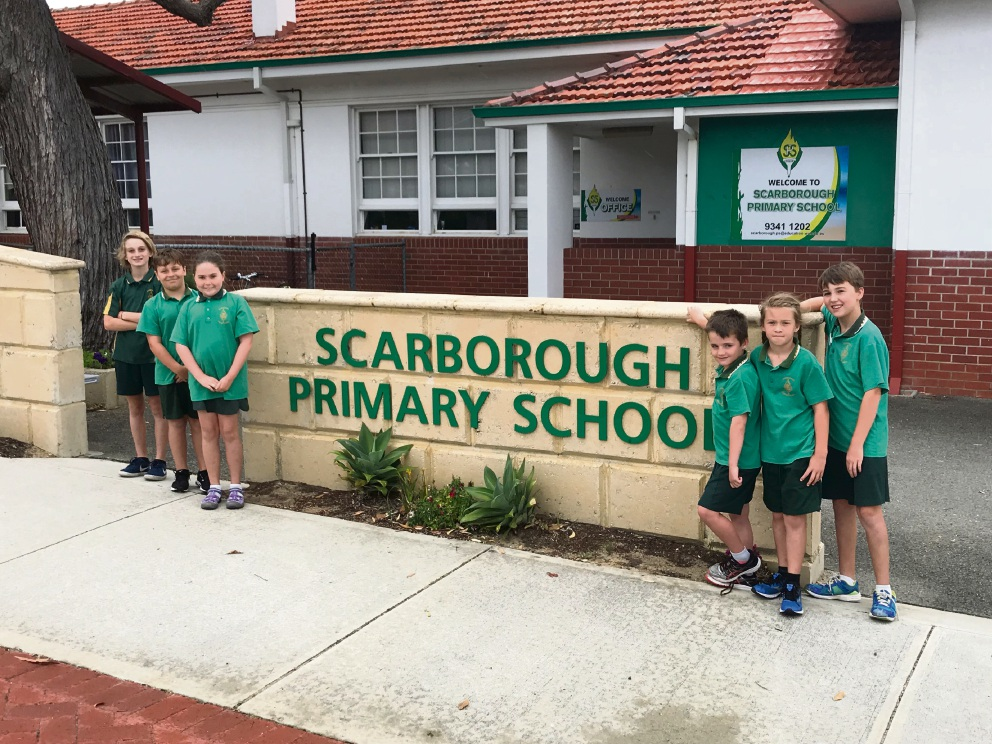 Scarborough Primary School students Jack Sarich, Marley Burnett, Emilia O'Donnell, Max Russell, Abby Mounsey and Hayden O'Donnell.