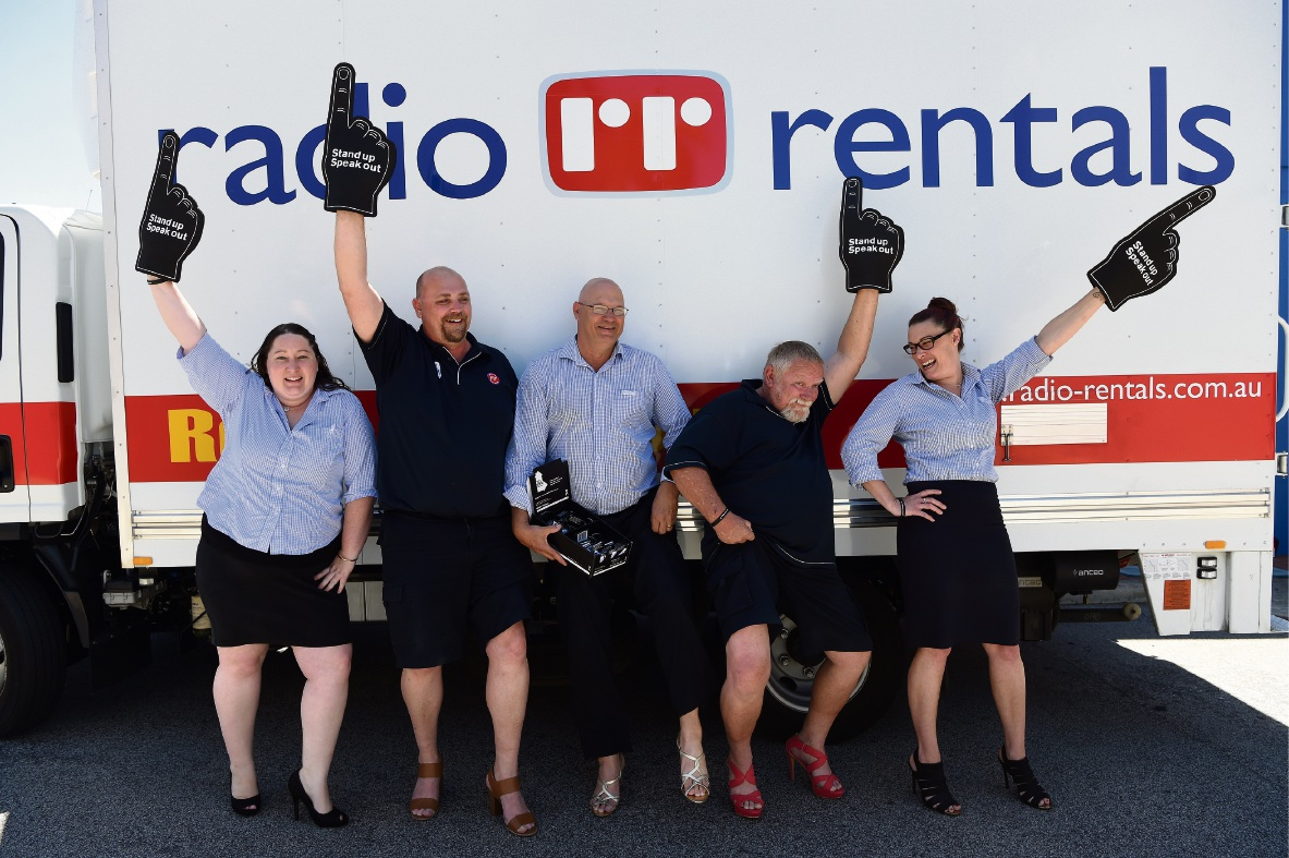 Radio Rentals Rockingham staff. Picture: Jon Hewson d476195