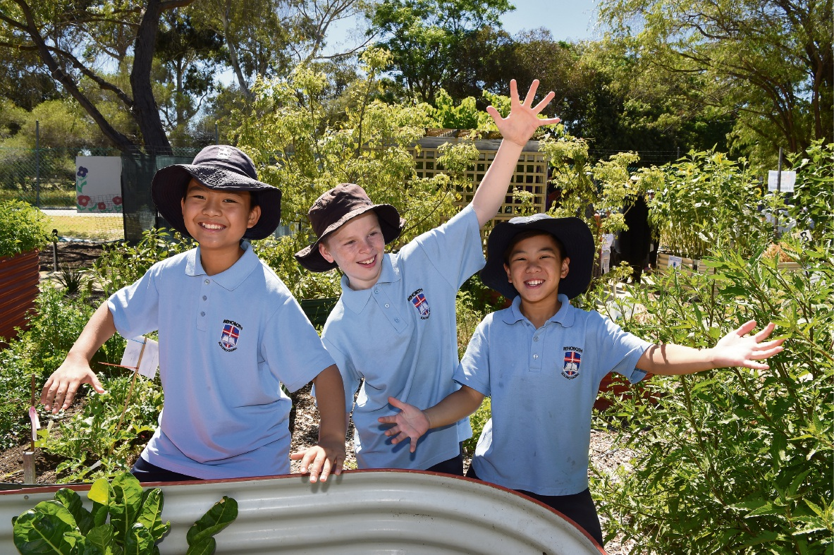 Rehoboth Christian College students Karianne Lobaugh, Natalie Chan, Catherine Hadisuseno and Sharon Susetya. Picture: Jon Hewson d476279