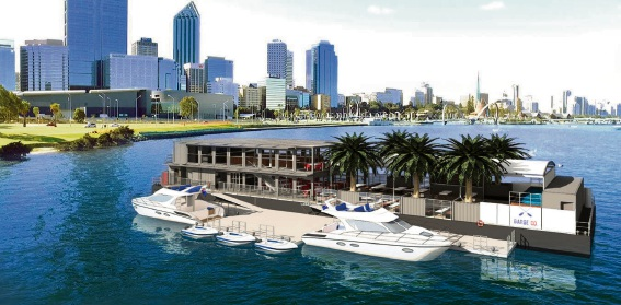 Artist impression of Barge Co's premier entertainment venue.