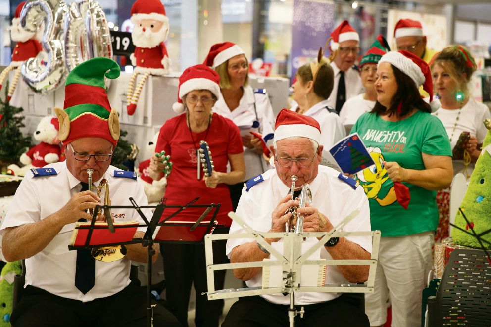 Merriwa Salvos band and Circle of Friends Choir. Picture: Martin Kennealey