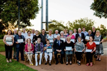 Melville Mayor Russell Aubrey (front and centre) with 2017 Mayor's Valued Citizen and Youth Citizenship Award Winners.