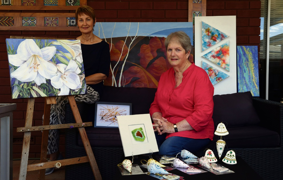 Artists Kristine Hanson and Wendy McLellan. Picture: d476028
