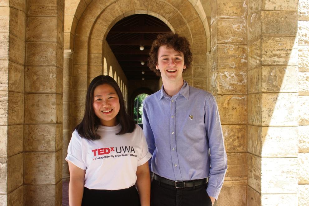 Thea Kurniawan and Conor McLaughlin from TEDxUWA.