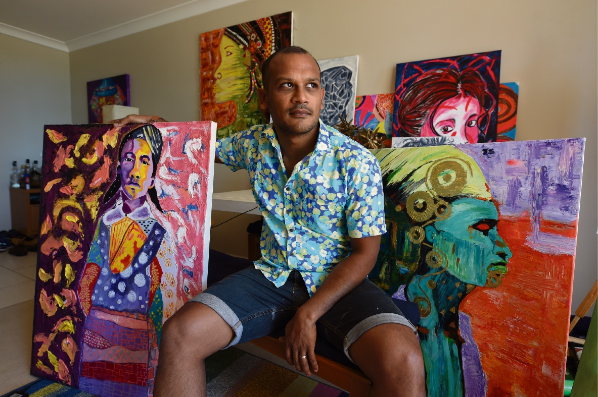South Perth artist Ryan Michael.
