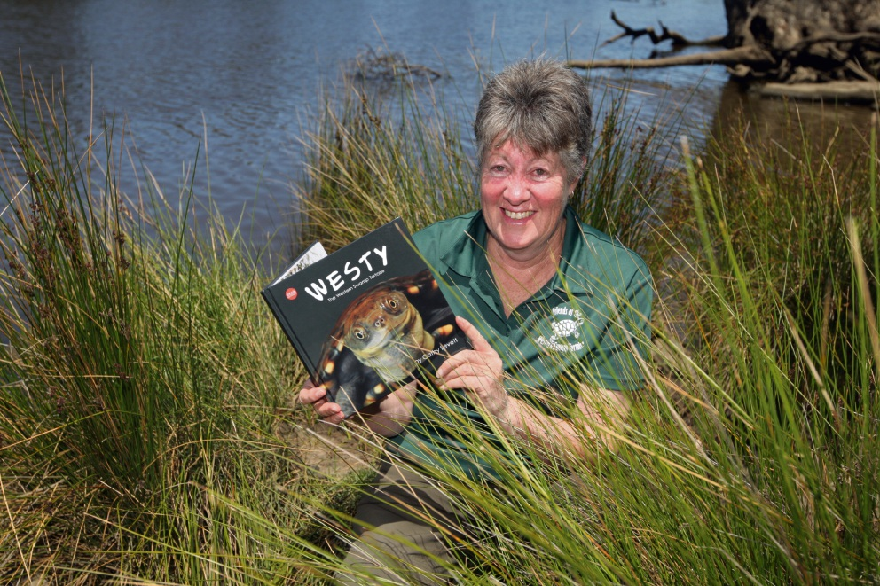 Cathy Levett with her book, which she hopes will help educate the younger generation on caring for native wildlife. Picture: Bruce Hunt d476771