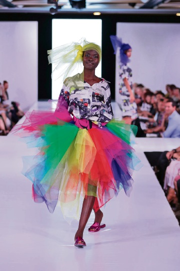 A design from South Metro Tafe fashion student Gabby Olivier from this year's Proto show. Picture: John Koh
