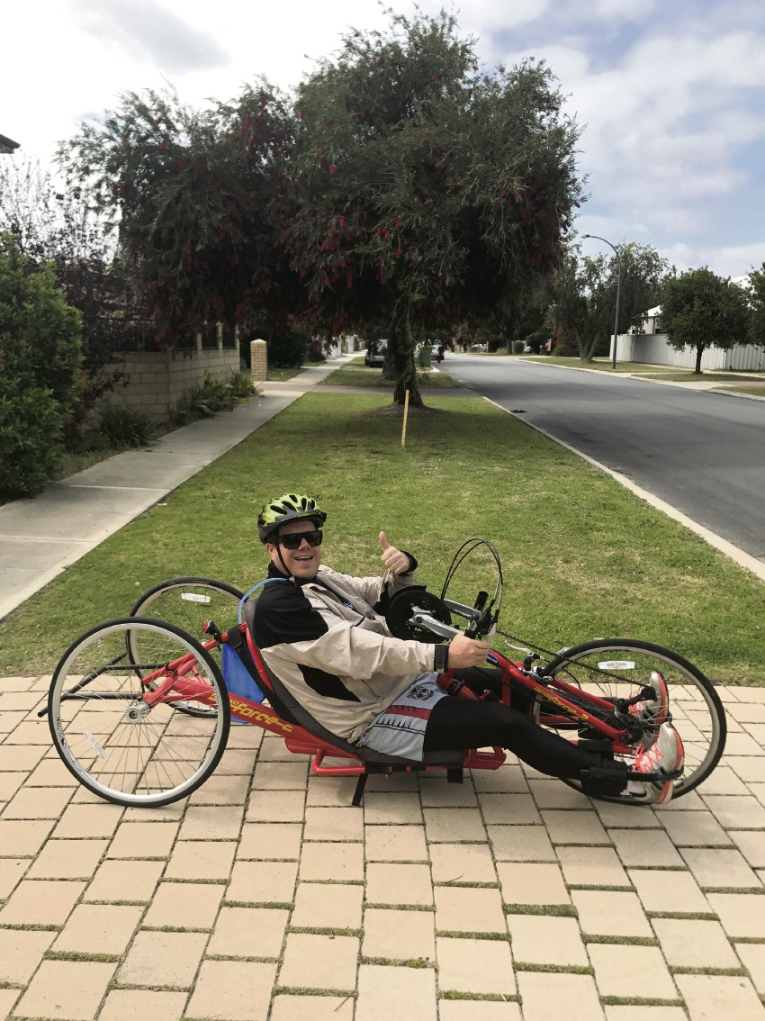 Tom Hughson will handcycle 90km to raise funds for Empower Golf Australia.