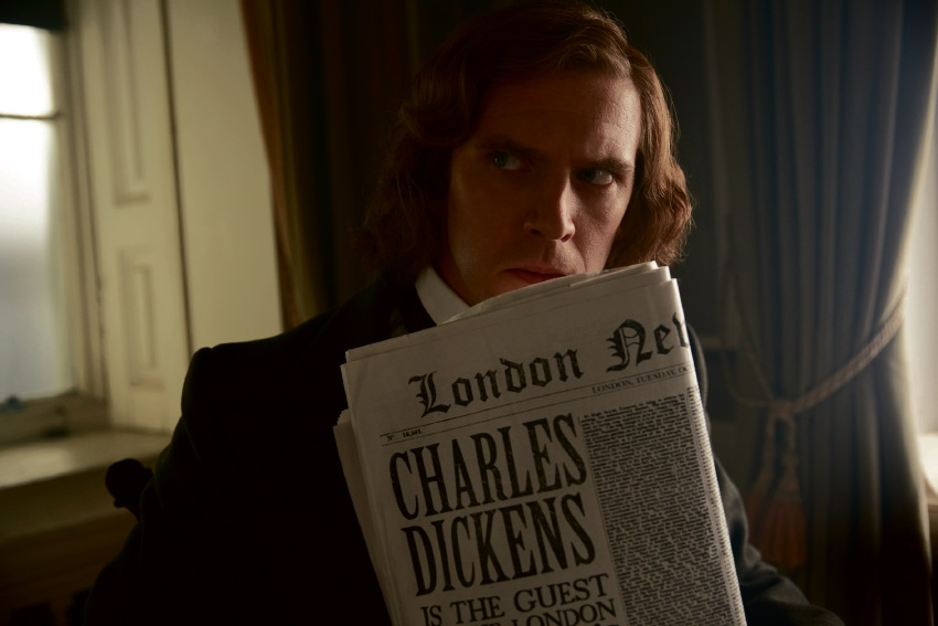 Dan Stevens as Charles Dickens in The Man Who Invented Christmas.