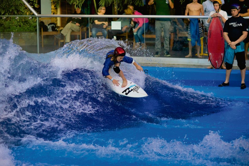 The American Wave Machine in action.