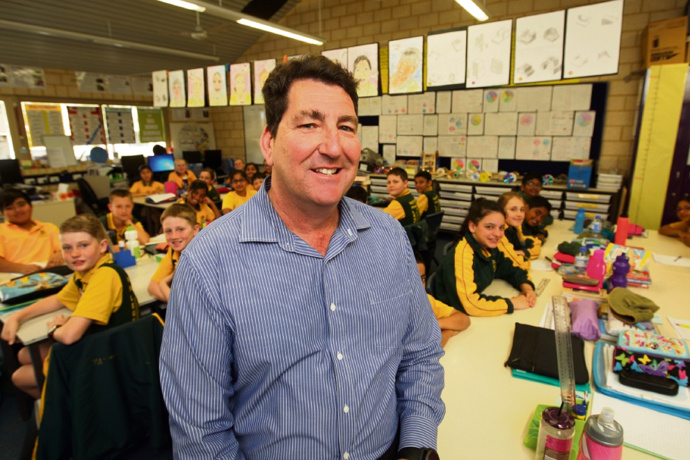 Carl Sanderson is WA's top primary school teacher. Picture: Bruce Hunt d473602