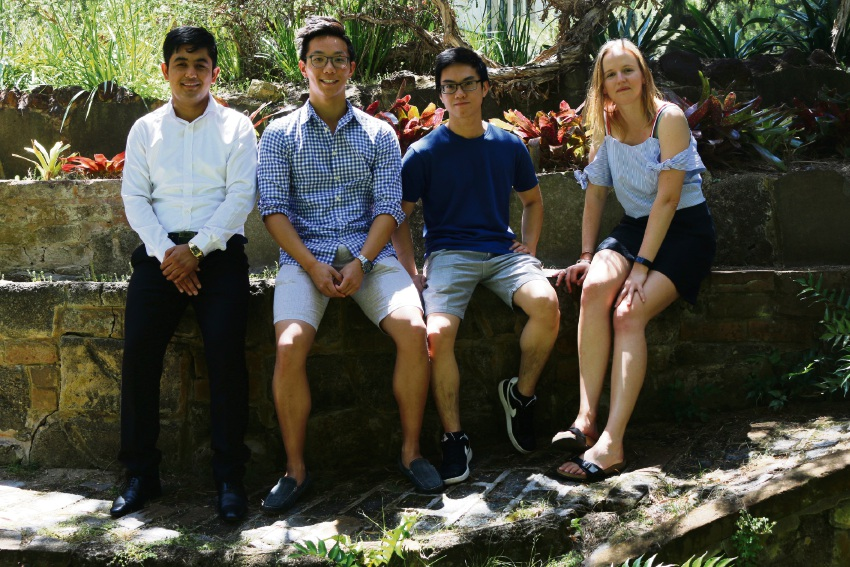 UWA students Mahmud Safari, Ben Chia, Melvin Basuki and Sian Young.