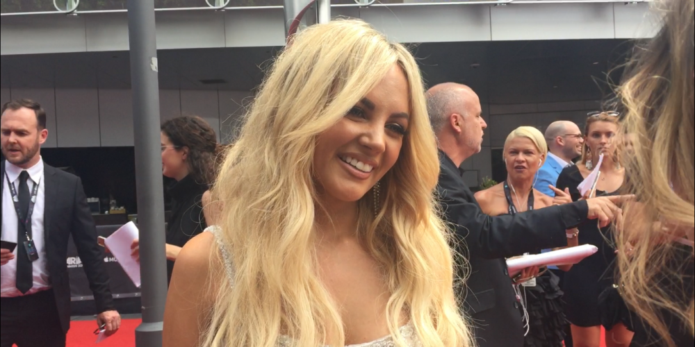 Perth's Samantha Jade at the Aria Awards.