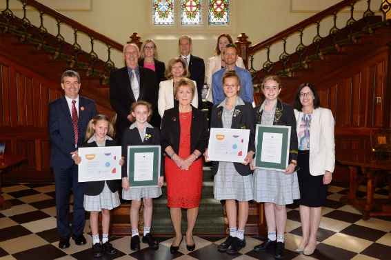 Penrhos Collage wins the Leadership Excellence Award at the 2017 Governor's School STEM Awards.
