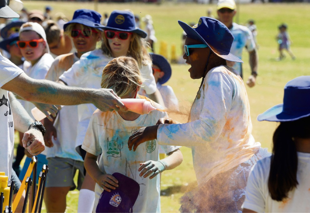 Bambara Colour Fun Run. Picture: Martin Kennealey