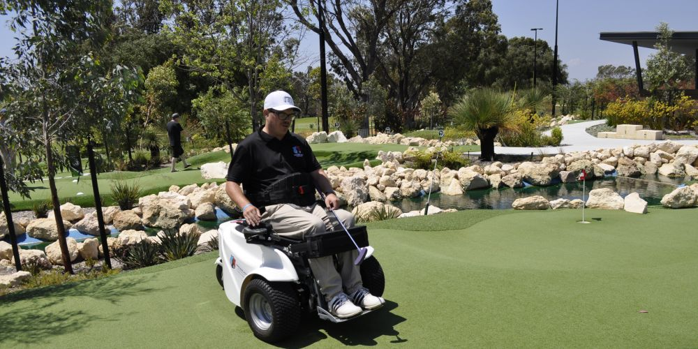 Empower Gold Australia's Tom Hughson uses the ParaGolfer.