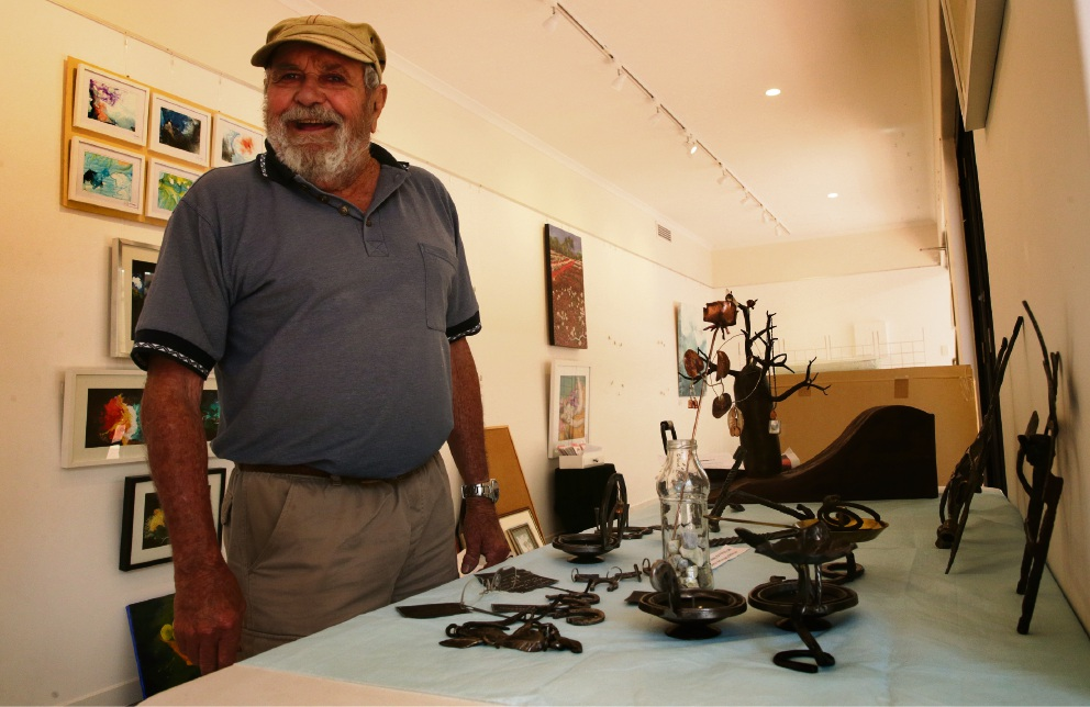 David Blair (Mullaloo) with some of his work. Picture: Martin Kennealey d476897