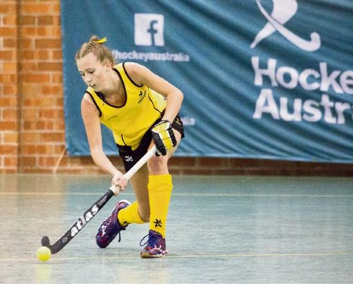 Eden Hill indoor hockey player Morgan Bentley. Picture: Click inFocus
