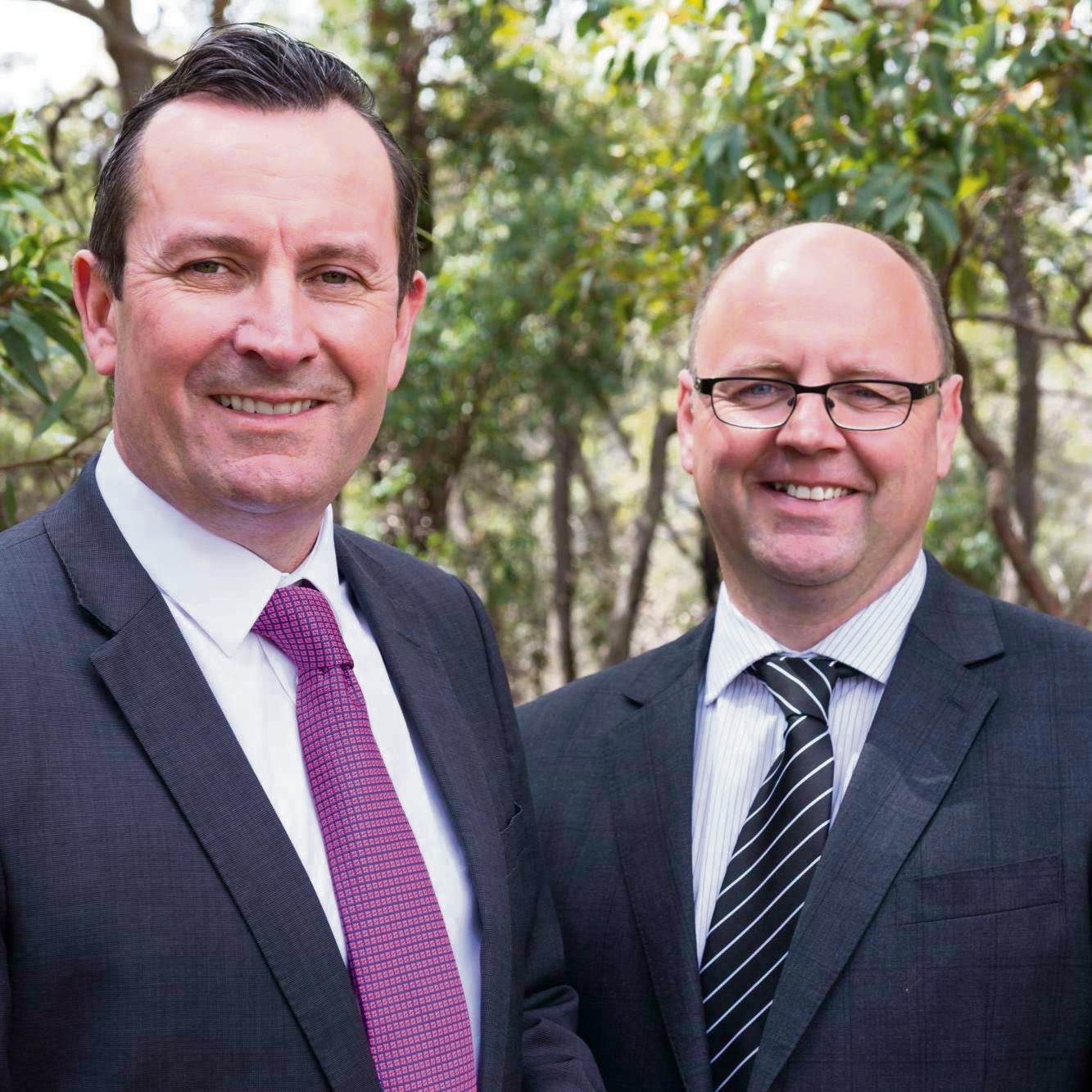 Premier Mark McGowan with Darling Range MLA Barry Urban.