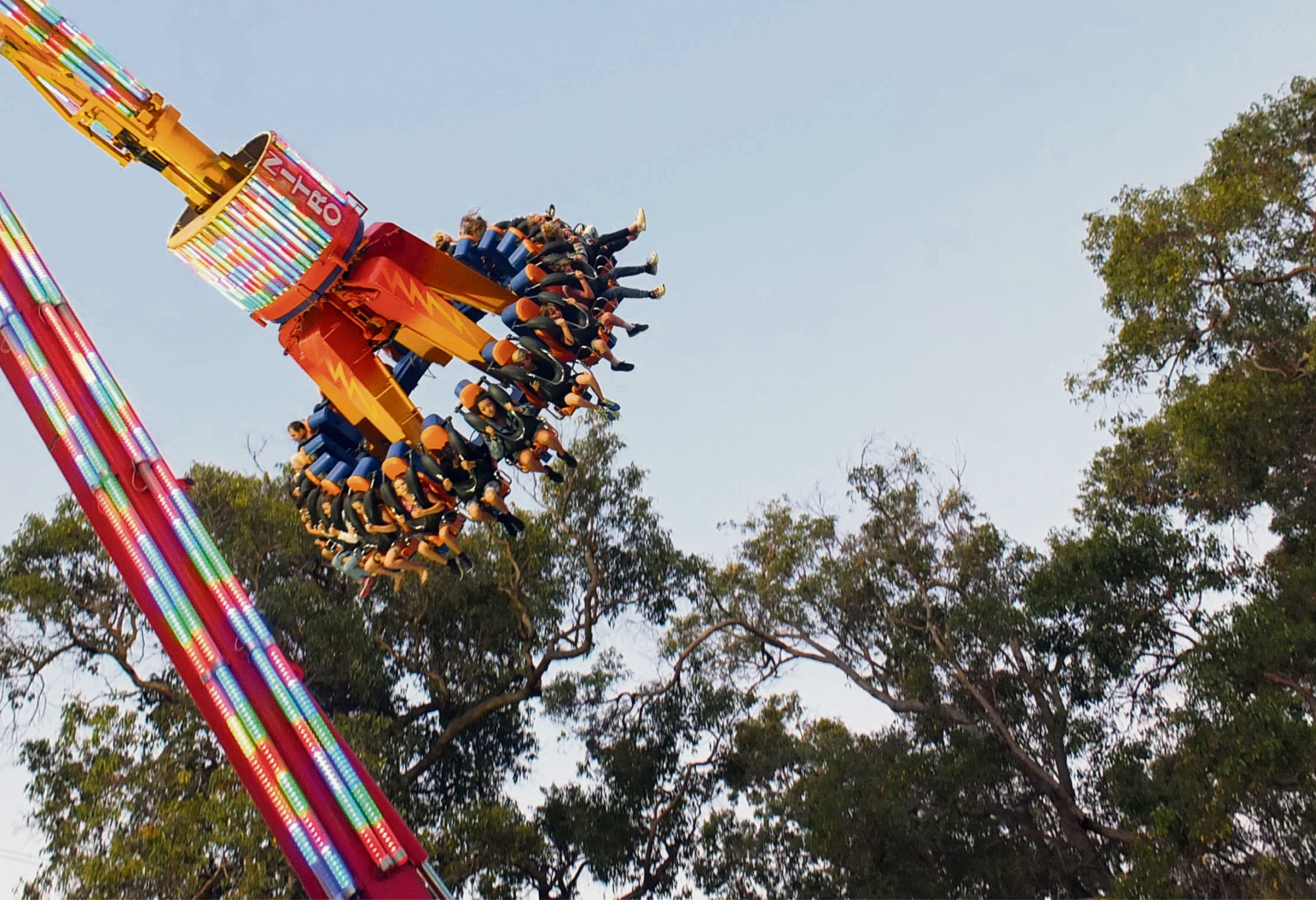 Nitro riders soar above the gum trees at the Wanneroo Showground.