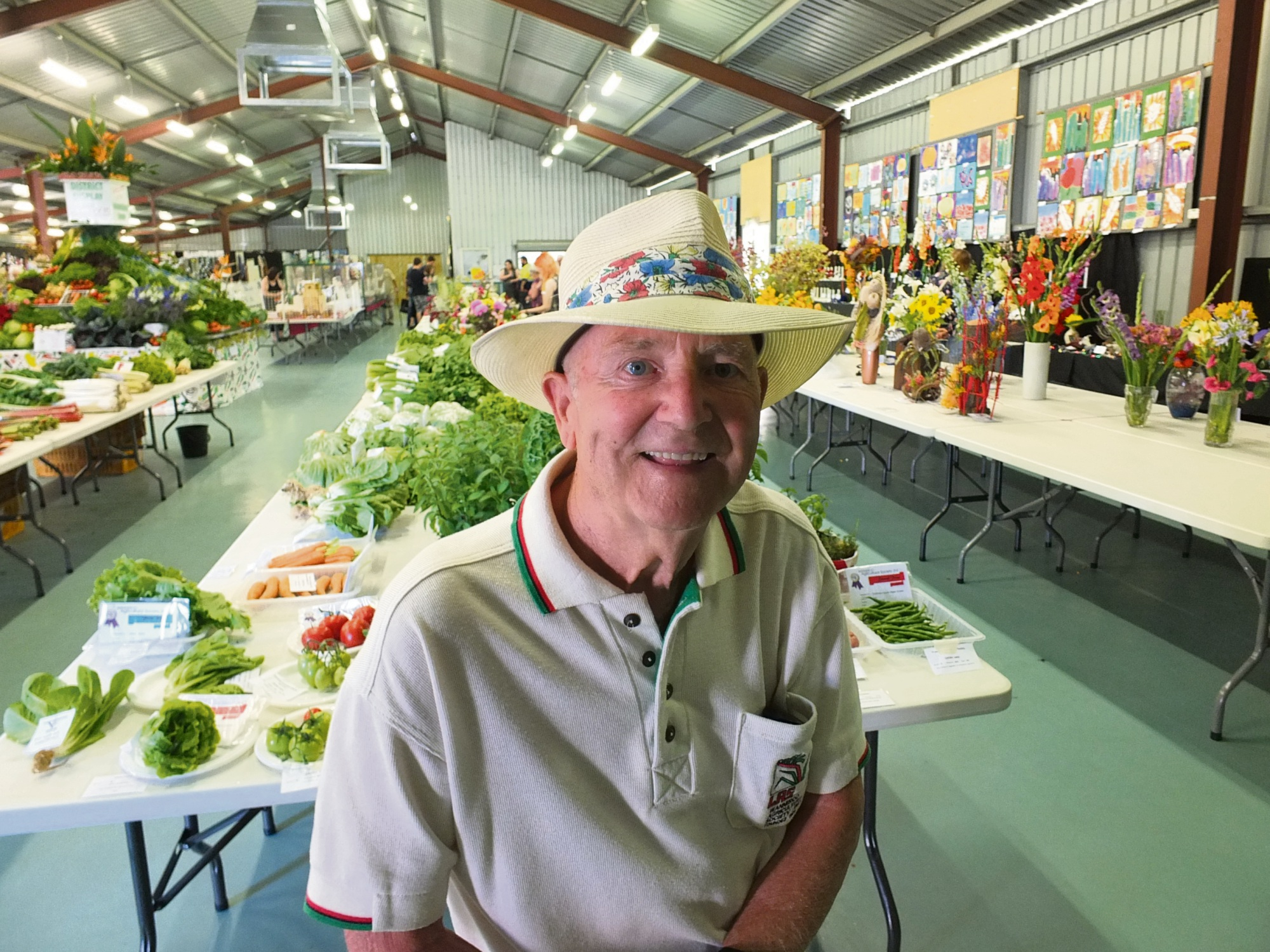 Former Wanneroo Agricultural Society president Bill Fulcher in the Margaret Cockman Pavilion.