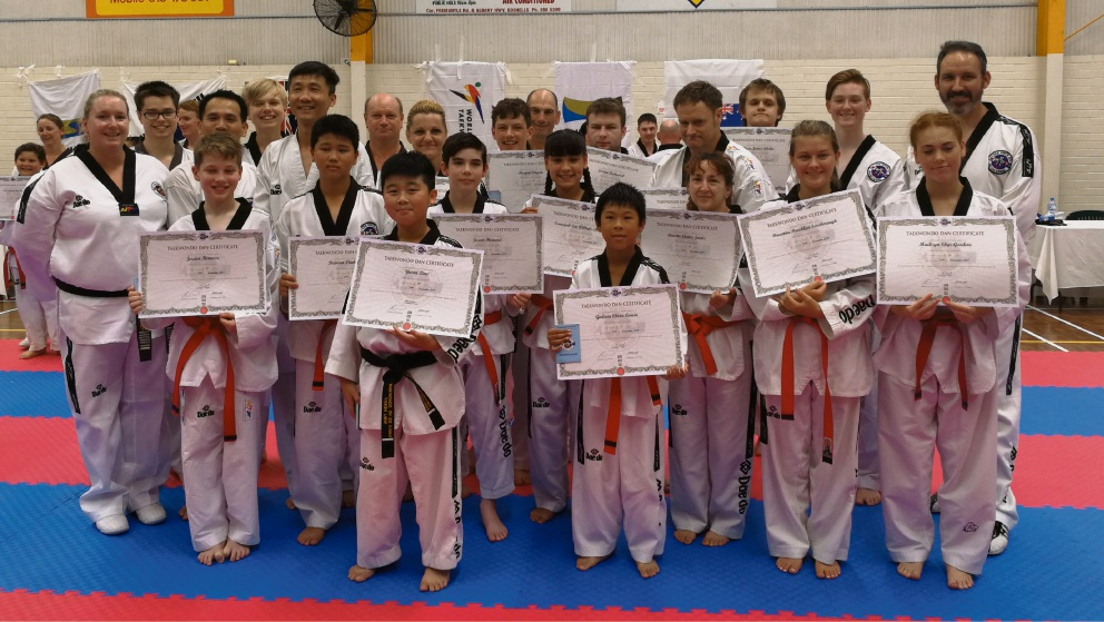 Kwinana and Port Kennedy Taekwondo Oh Do Kwan club members.