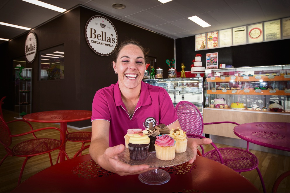 Sterna Coertzen recently opened Bella's Cupcake World in Joondalup. Picture: Will Russell d476778
