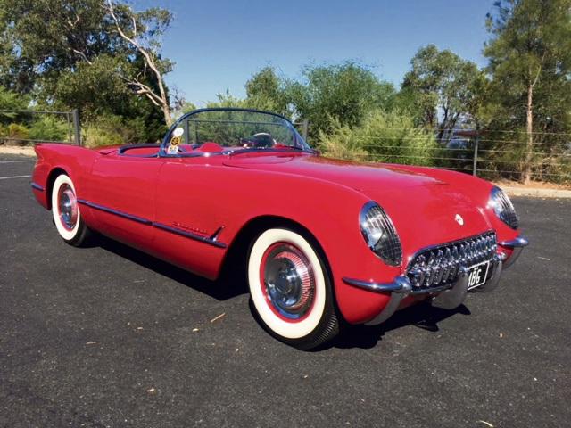 The 1954 Chevrolet Corvette.