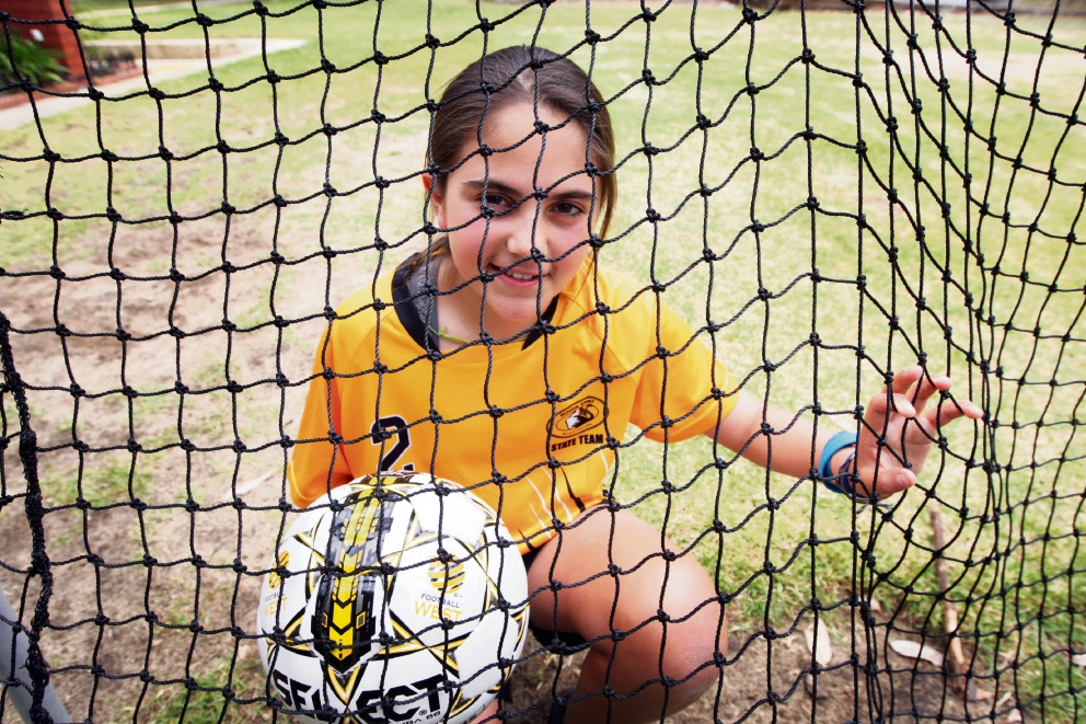 Gooseberry Hill soccer player Sophia Korlat. Picture: Bruce Hunt www.communitypix.com.au d476957