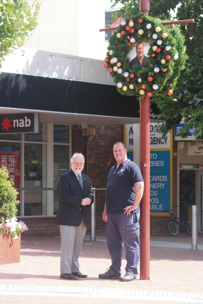 Armadale mayor Henry Zelones with Ben Boekholt.