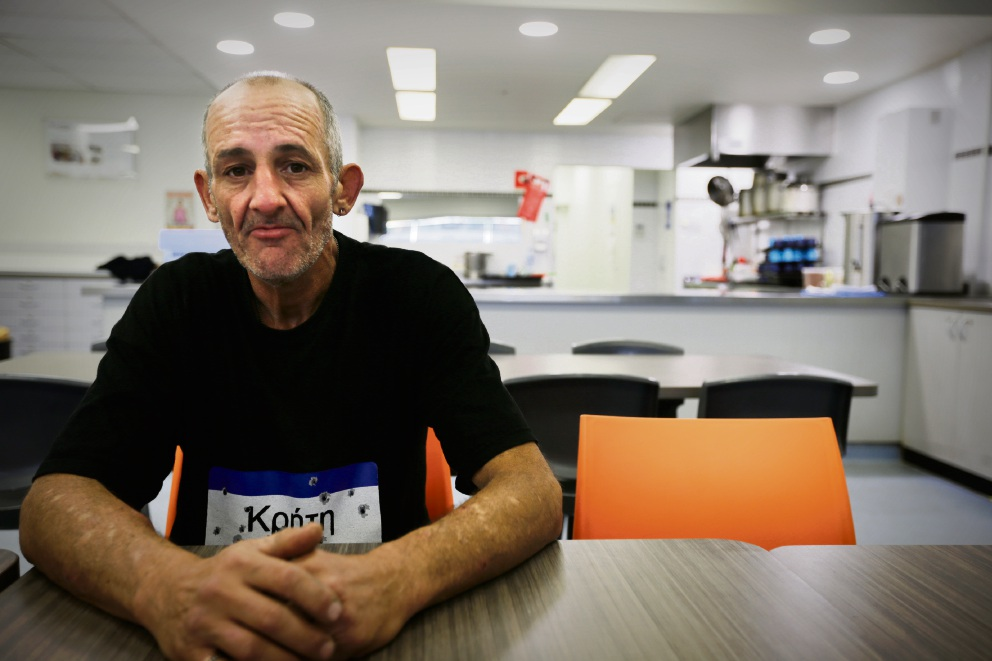 Michael who is homeless at the moment. UnitingCare West is ramping up its Christmas Appeal to help those doing it tough with financial support, food hampers and gifts (for people of all ages). Picture: Andrew Ritchie www.communitypix.com.au d476836