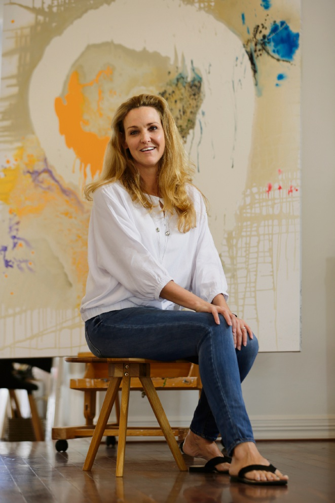 Artist Caroline Christie-Coxon is opening a pop-up art gallery on Hay Street for the summer. Picture: Andrew Ritchie www.communitypix.com.au d476926