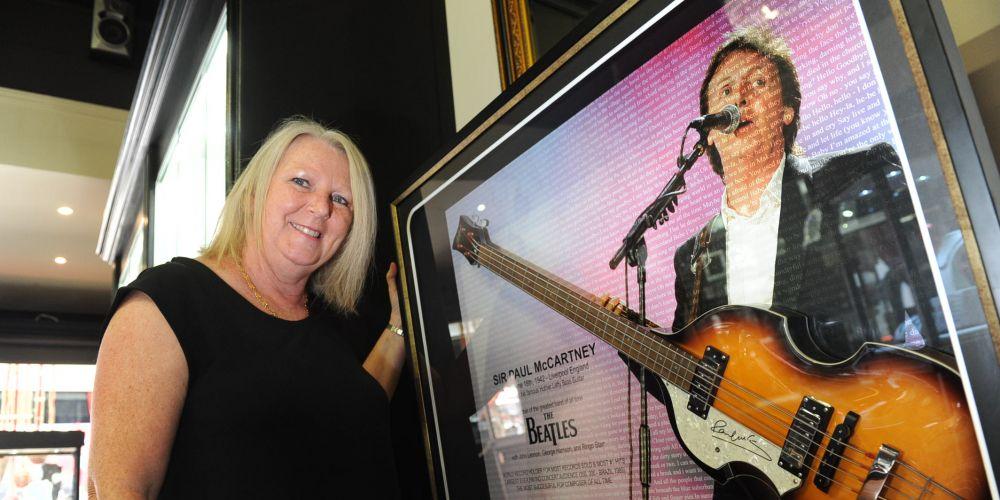 The Paul McCartney Hofner bass is for sale by Ann Broadley. Picture: Jon Bassett