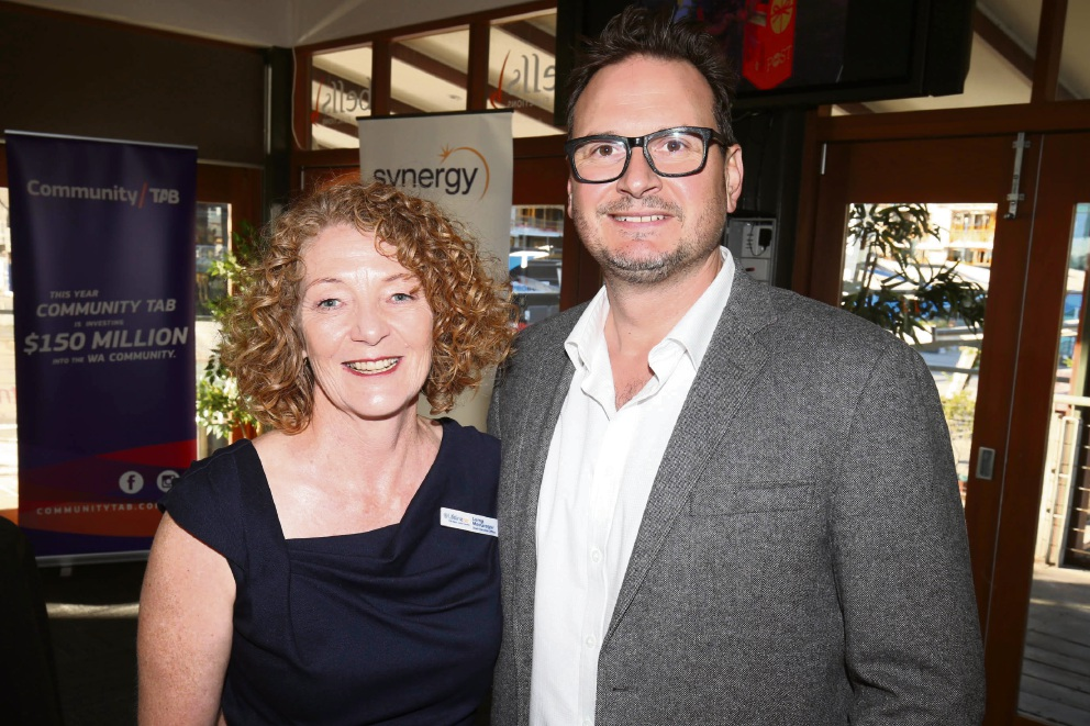 Lifeline WA CEO Lorna MacGregor and Rohan Milne Picture: Matt Jelonek