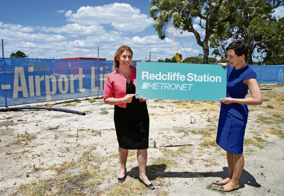 Transport Minister Rita Saffioti and Belmont MLA Cassie Rowe. Picture: Martin Kennealey