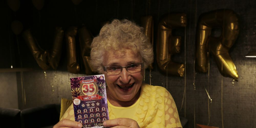 Janina, who won $35,000 on a scratchie.